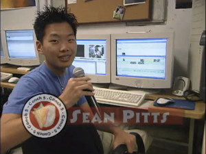 Video frame grab of Sean Pitts in video production class while attending Key West High School.