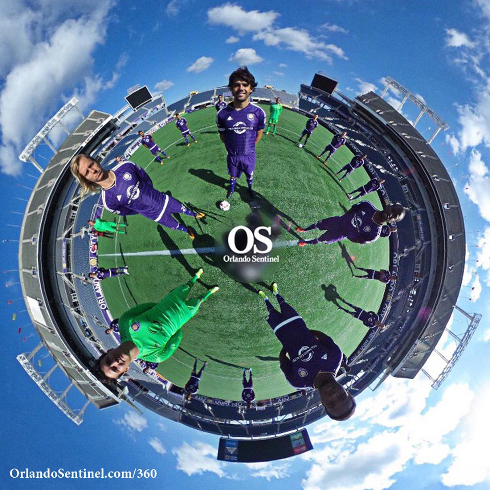 Orlando City SC captain Kaká helms a 360 photo shot by Sean Pitts of the Orlando Sentinel.